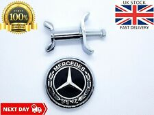 Mercedes Benz Bonnet Badge Black Flat Emblem Replacement 44mm C E S Class