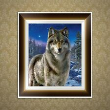 DIY 5D Diamond Embroidery Painting Big Wolf Cross Stitch Craft Home Decor