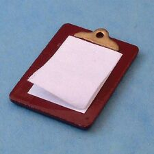 Dolls House Miniature 1/12th Scale Clipboard and Paper