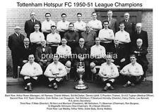 TOTTENHAM HOTSPUR FC 1950-51 LEAGUE CHAMPIONS ALF RAMSEY BILL NICHOLSON A4 PRINT