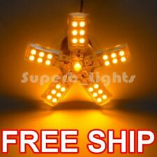 ~2x 3157 AMBER 41-SMD BRAKE SPIDERLITE LED LIGHT BULB