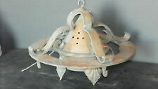 ANTIQUE ARTS AND CRAFTS WHITE METAL AND IRON LIGHT 6125