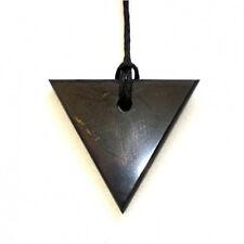 "Shungite Schungit pendant ""Triangle"" women stone talisman amulet Health Emf"