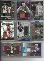 NFL Football Cards Hot Packs! 3 Hits Per Pack, 8 Total Cards! Autos, Patches, Je