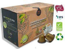 100 Capsule caffè Certificato alluminio miscela CREMOSO compatibili NESPRESSO