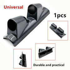 """Warping 2"" 52mm Dual Gauge Cover Mount Holder Carbon Fiber Look ABS For Car SUV"