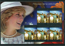 Antigua & Barbuda 2011 MNH Princess Diana Visits 5v M/S I $10 High Value Stamps