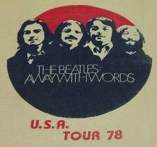S * vtg 70s THE BEATLES awaywithwords multimedia tour ALBUQUERQUE NM t shirt