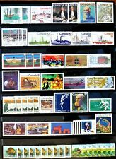 57 uncancelled Canadian postage stamps, no gum,