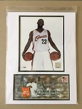LEBRON JAMES 2003 NBA #1 DRAFT PICK CLEVELAND 12X16 MATTED PHOTO & EVENT COVER