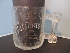 McDonalds Flintstones Glass Mug Cup Pre Dawn 1993 Clear Frosted
