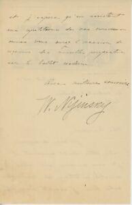 Waslaw NIJINSKY Romola Nijinsky AUTOGRAPH Letter (Ballet)