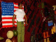 SALE Lot of Vintage GI Joe Accessories Parts Guns Knives Helmets Clothes USA