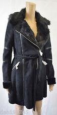 Bnwt Lipsy Love Michelle Keegan Faux Fur Black Coat - UK Size 8 - RRP £110!