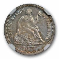 1871 Proof Seated Liberty Half Dime NGC PF 62 Low Mintage Toned