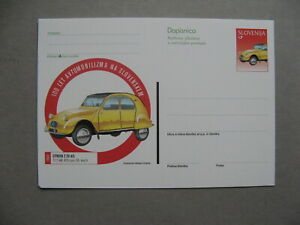 SLOVENIA, ill. prestamped PC 1998, mint, car Citroen 2CV AZL