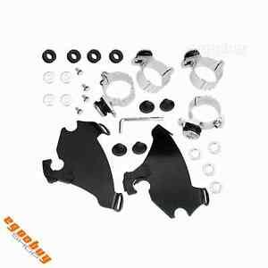 Headlight Fairing Trigger Lock Mounting Kit For Harley Sportster XL883 1200 Dyna