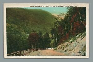 Vintage 1919 Postcard: The Lofty Heights Along the Trail Mohawk Trail MA