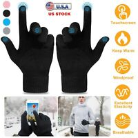 Touchscreen Gloves Knit Cold Winter Men Women Gloves Texting Active Cell Phone