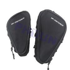 Pair Motorcycle Crash Bar Frame Saddlebag Side Bag Pack Wallet Pouch Universal
