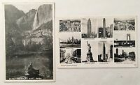RPPC Ten Views of New York City / Bear Yosemite Nat'l Park Real Photo Postcards