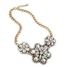 Gorgeous Women's Statement Sparkly Chain Bib Necklace w/ Anthropologie Flair