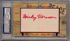 2013 Historic Autographs -1940's Decade MICKEY VERNON AUTOGRAPH 23/25 PSA/DNA