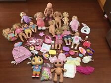 Huge Lot Of Baby Dolls Baby Alive Lala Loopsy Disney Fisher-Price More Supplies