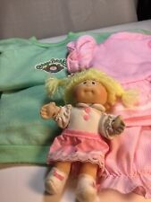 Cabbage Patch Outfits 2 Green And Pink Comes With Little Mini Cabbage patch doll