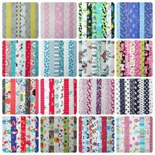 """20 JELLY ROLL STRIPS 100% COTTON PATCHWORK FABRIC CRAFTS ~ 2.5"""" X 22 INCH LONG"""