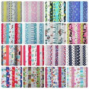 "20 JELLY ROLL STRIPS 100% COTTON PATCHWORK FABRIC CRAFTS ~ 2.5"" X 22 INCH LONG"