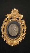 French Antique Benjamin Duvivier Signed Medalion  in Exquisite Gilt Frame