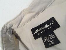 Eddie Bauer Men's Shirt Size 3XLT Tall 3XL Khaki Poplin Button Down L/S Polo Top