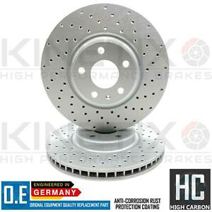 FOR AUDI A5 2.7 TDi FRONT CROSS DRILLED PERFORMANCE BRAKE DISCS PAIR 320mm