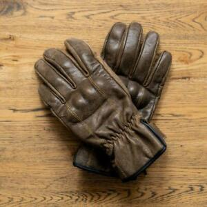 'The Original'   Retro Motorbike Gloves   Brown Distressed Leather