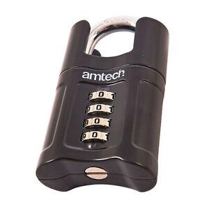 Shrouded 50mm Hardened Lock 4 Digit Combination Security Padlock Shed Gate Door