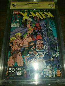 Uncanny X-Men #274 9.8 CBCS Marvel 1991 Direct Edition SIGNED JIM LEE