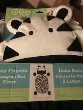 preowned CoCaLo baby zebra baby changing pad cover