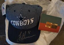 Troy Aikman - Autographed Dallas Cowboys Logo Athletic Cap Hat Auto /200 UDA NFL