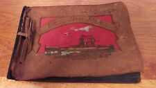 USS New Mexico Rare 1920's Hand Made Leather Photo Album Curtis Wilbur Sec Navy