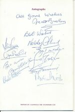 More details for signed menu - manchester united former players gala 1987 - 9 autographs