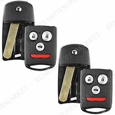 2 Replacement for Acura 2009-2014 TSX 2010-2013 ZDX Remote Fob Shell Flip Case