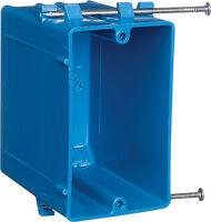 Carlon  3-3/4 in. H Rectangle  1 Gang  Outlet Box  Blue  PVC