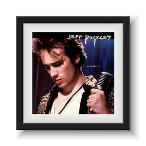 "Jeff Buckley - Grace  12"" Album Cover - Framed 16"" x 16"""