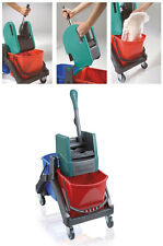 Unmissable Trolley Wringer Mop with Wheels Bucket Water Cleanliness