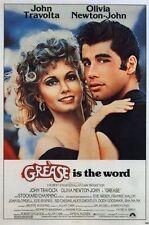 Grease fea. John Travolta Olivia Newton John Movie Poster Print, 27x40