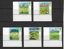 1994 GB.- Scottish Golf Courses - Full Set of Five Corner Stamps - MNH.