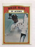 1972 Topps Willie Mays In Action #50 San Francisco Giants