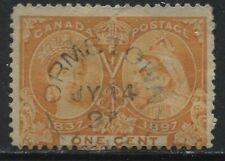 Canada QV 1897 1 cent orange Jubilee with Ormstown Quebec CDS
