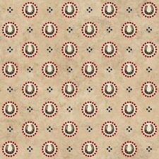 Fabric Western Town Cowboy Horseshoes Red on Tan Cotton 1 Yard